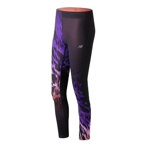 Womens New Balance Impact Premium Print Tights - Electric Glow M