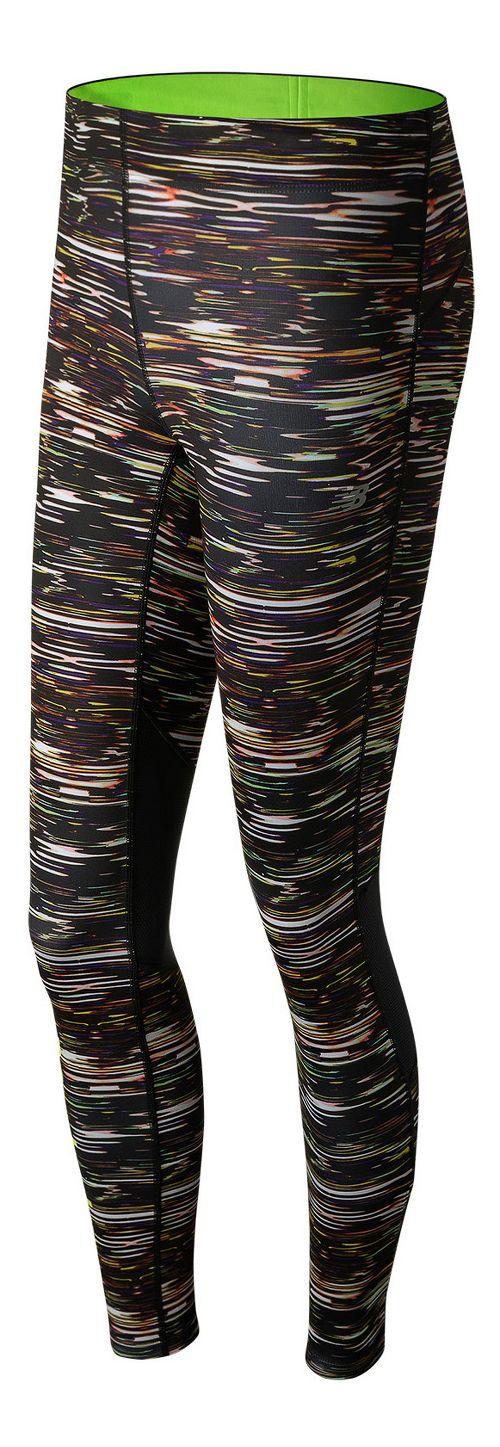 Womens New Balance Impact Print Tights - Multi Stripe S