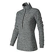 Womens New Balance In Transit Half-Zips & Hoodies Technical Tops