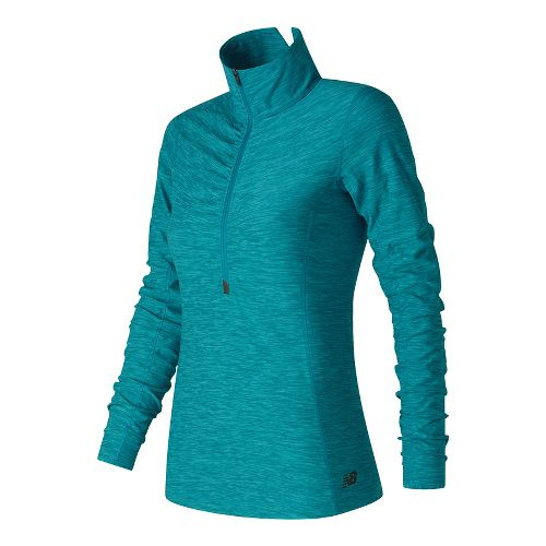 Womens New Balance In Transit Half-Zips & Hoodies Technical Tops - Blue Heather M