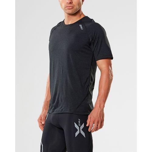 Mens 2XU X-CTRL Tee Short Sleeve Technical Tops - Black/Black S