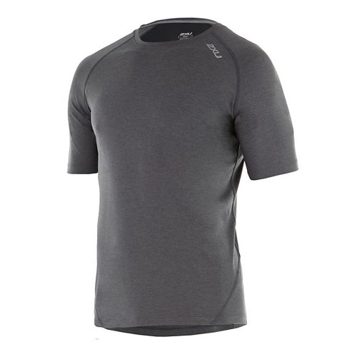 Mens 2XU X-CTRL Tee Short Sleeve Technical Tops - Charcoal/Black XL