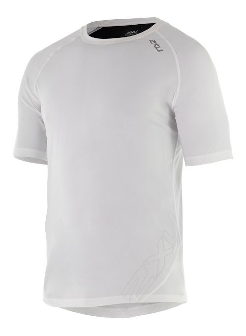 Mens 2XU X-CTRL Tee Short Sleeve Technical Tops - White/Black M