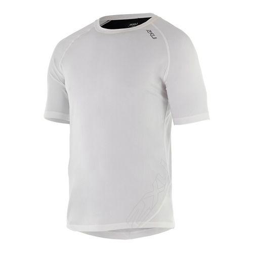 Mens 2XU X-CTRL Tee Short Sleeve Technical Tops - White/Black M