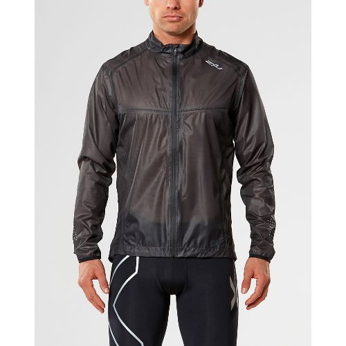 Mens 2XU X-LITE Running Jackets - Black/Silver L