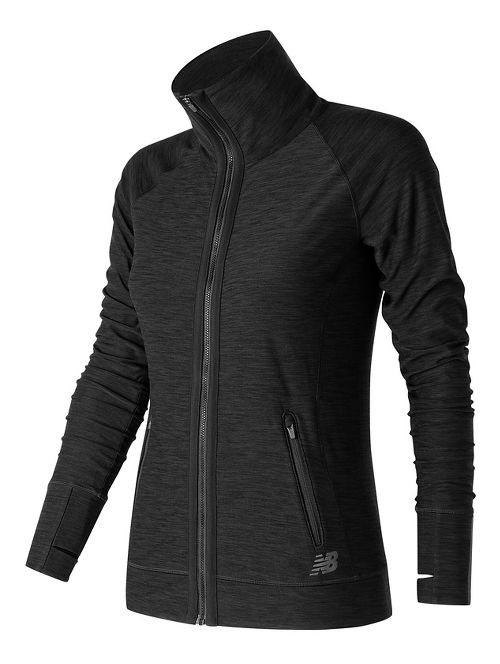 Womens New Balance In Transit Running Jackets - Black L