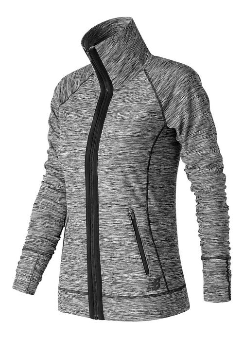 Womens New Balance In Transit Running Jackets - Black/White M