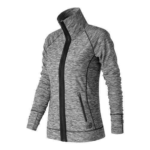 Womens New Balance In Transit Running Jackets - Black/White XS
