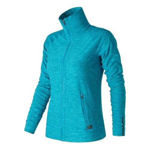 Womens New Balance In Transit Running Jackets - Blue Heather M