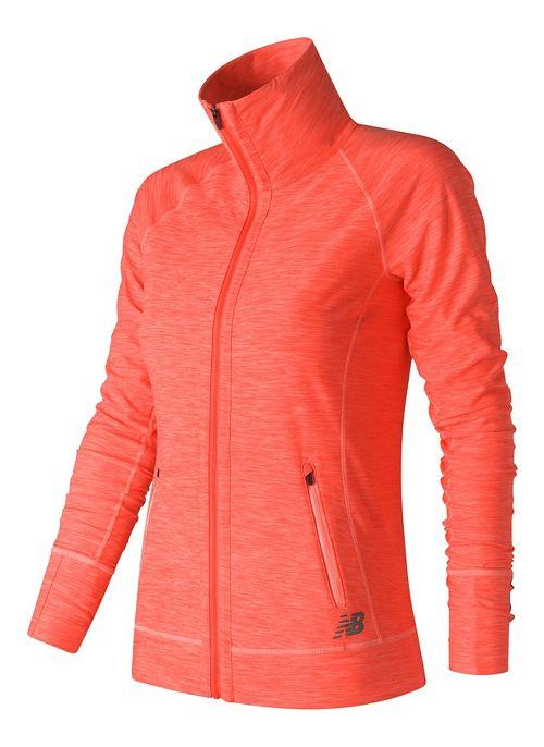 Womens New Balance In Transit Running Jackets - Black/White M