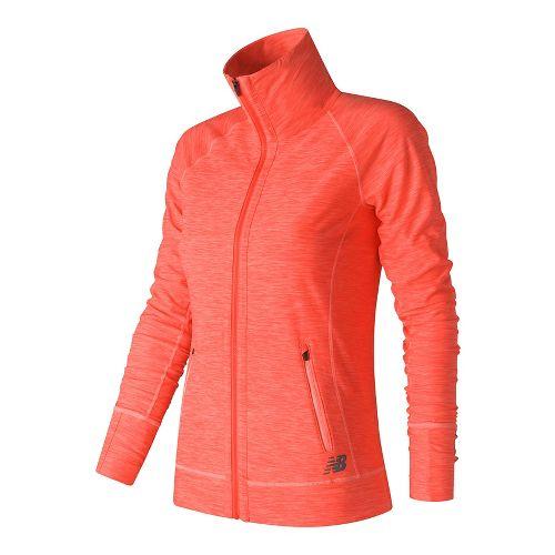 Womens New Balance In Transit Running Jackets - Sunrise Heather S