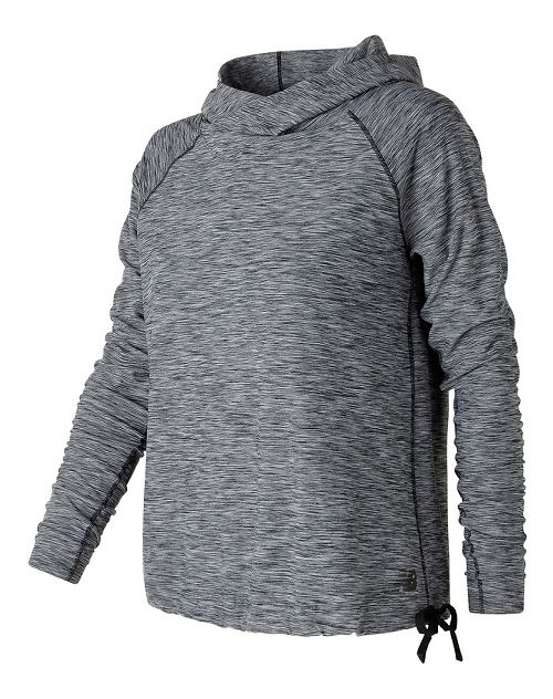 Womens New Balance In Transit Pullover Long Sleeve Technical Tops - Black/White S