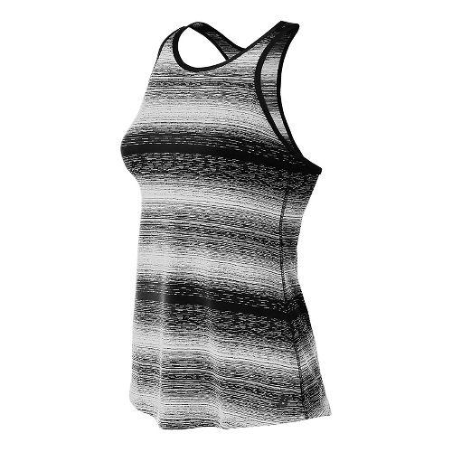 Womens New Balance Layer Sleeveless & Tank Technical Tops - Black/White XS
