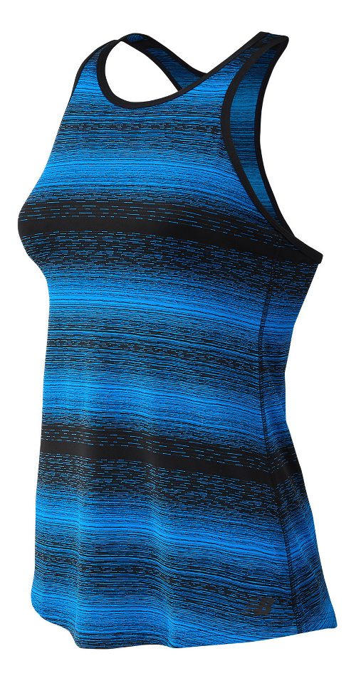 Womens New Balance Layer Sleeveless & Tank Technical Tops - Electric Blue XS
