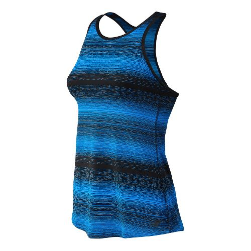 Womens New Balance Layer Sleeveless & Tank Technical Tops - Electric Blue M