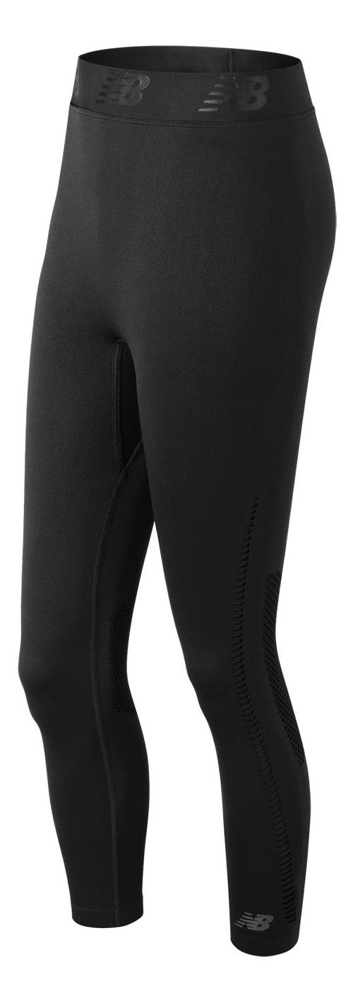 Womens New Balance M4M Seamless Breathe Capris Tights - Black S