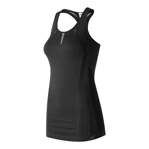 Womens New Balance M4M Seamless Breathe Sleeveless & Tank Technical Tops - Black L