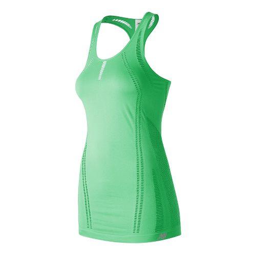 Womens New Balance M4M Seamless Breathe Sleeveless & Tank Technical Tops - Agave Green M ...