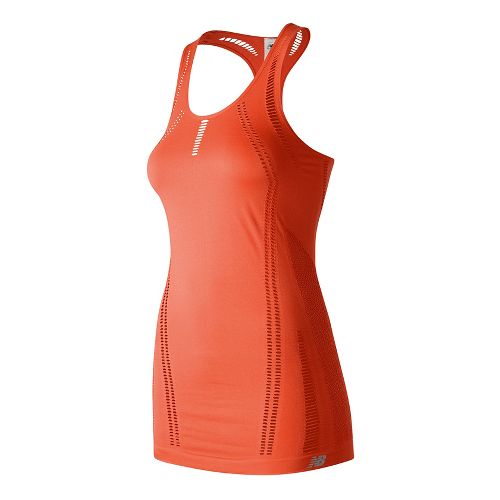 Womens New Balance M4M Seamless Breathe Sleeveless & Tank Technical Tops - Sunrise L