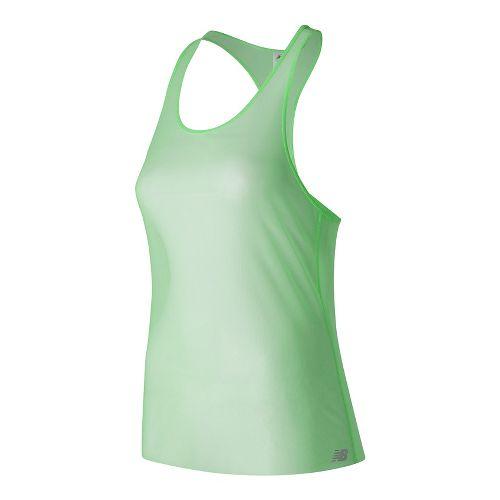 Womens New Balance Mesh Sleeveless & Tank Technical Tops - Agave Green XL