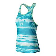 Womens New Balance Mesh Sleeveless & Tank Technical Tops
