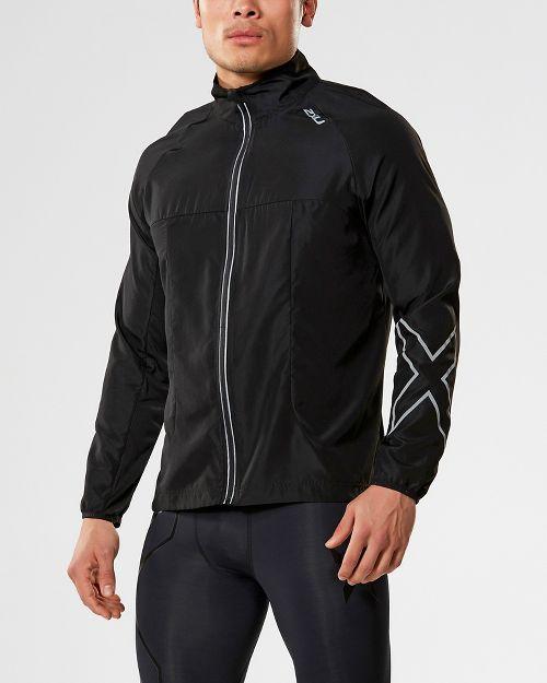 Mens 2XU X-VENT Running Jackets - Black/Black S