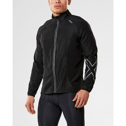 Mens 2XU X-VENT Running Jackets - Black/Black S