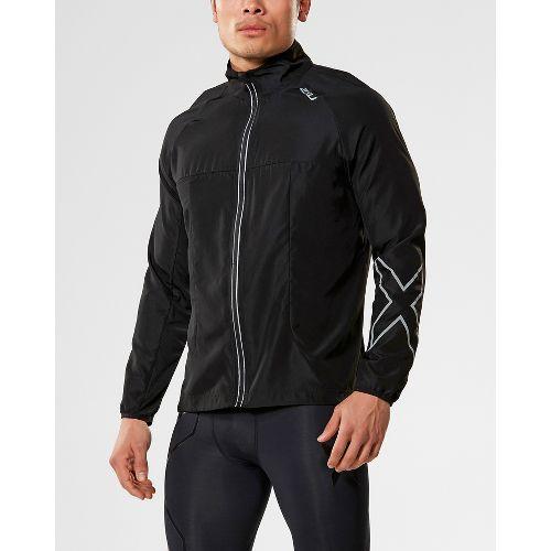 Mens 2XU X-VENT Running Jackets - Black/Black XL