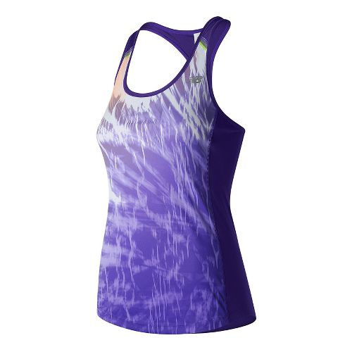 Womens New Balance NB ICE Tank Print Sleeveless & Tank Technical Tops - Electric/Violet L ...