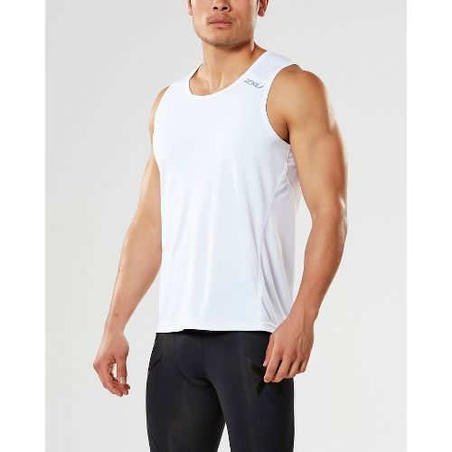 Mens 2XU X-VENT Sleeveless & Tank Tops Technical Tops - Blue/Blue XL