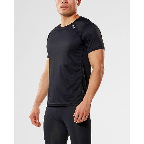 Mens 2XU X-VENT Tee Short Sleeve Technical Tops - Black/Black XL