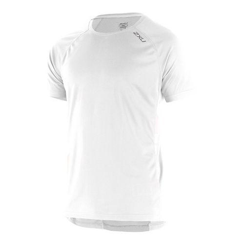Mens 2XU X-VENT Tee Short Sleeve Technical Tops - White/White S