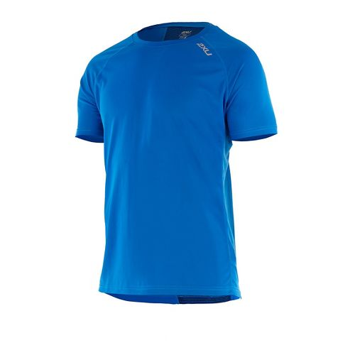Mens 2XU X-VENT Tee Short Sleeve Technical Tops - Blue/Blue XL