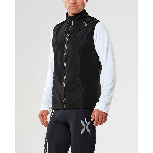 Mens 2XU X-VENT Vests Jackets - Black/Black L