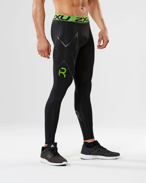 Mens 2XU Refresh Recovery Compression Tights & Leggings Tights - Black/Nero XL-T