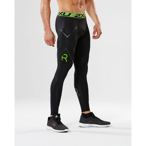 Mens 2XU Refresh Recovery Compression Tights & Leggings Tights - Black/Nero L