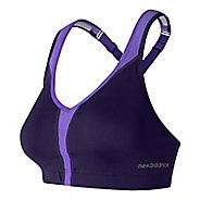 Womens New Balance NB Power Sports Bras - Black Plum 38D