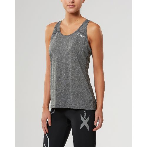 Womens 2XU ACTIVE Training Singlet Sleeveless & Tank Tops Technical Tops - Black Marle S ...