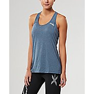 Womens 2XU ACTIVE Training Singlet Sleeveless & Tank Tops Technical Tops - Navy Marle L