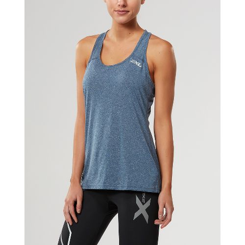 Womens 2XU ACTIVE Training Singlet Sleeveless & Tank Tops Technical Tops - Navy Marle M