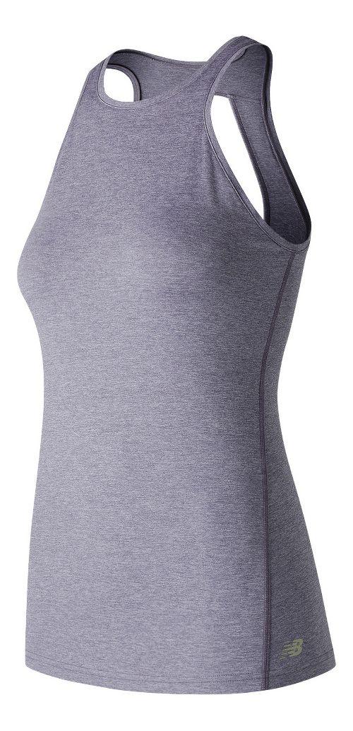 Womens New Balance Open Back Sleeveless & Tank Technical Tops - Cosmic Sky Heather XL