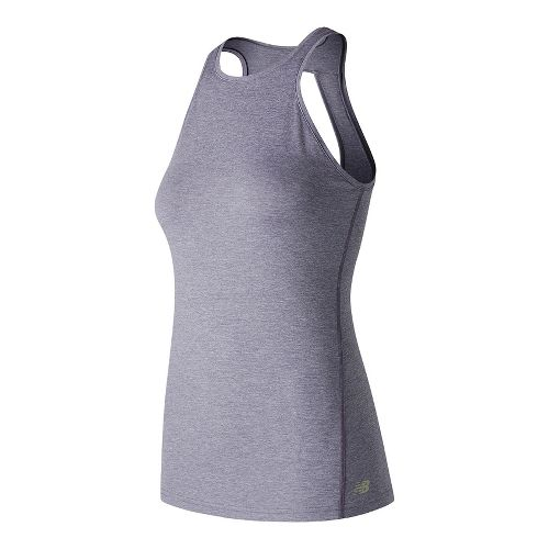 Womens New Balance Open Back Sleeveless & Tank Technical Tops - Cosmic Sky Heather L ...