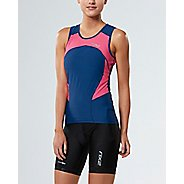Womens 2XU ACTIVE Tri Singlet Sleeveless & Tank Tops Technical Tops