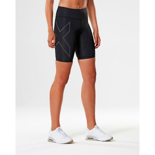 Womens 2XU Elite MCS G2 Compression & Fitted Shorts - Black/Nero L