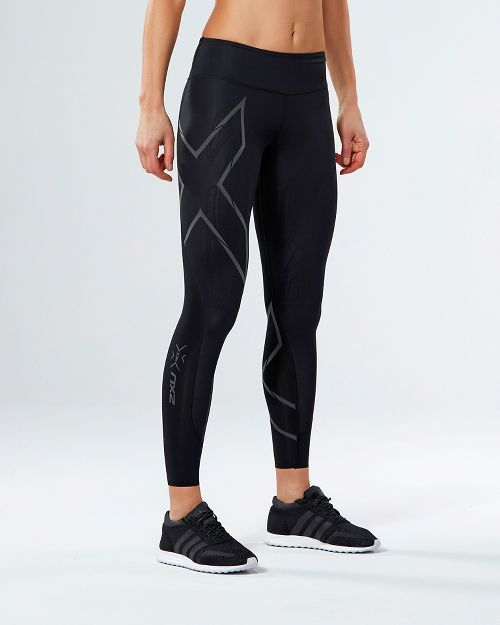 Womens 2XU Elite MCS G2 Compression Tights - Black/Nero L-T