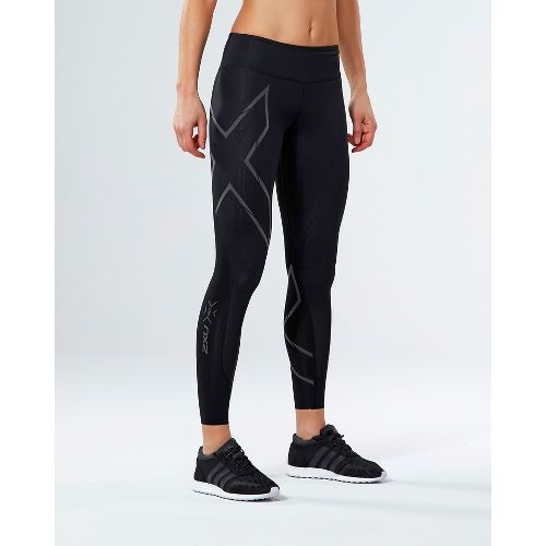 Womens 2XU Elite MCS G2 Compression Tights - Black/Nero S