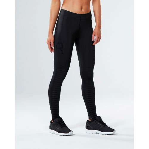 Womens 2XU Elite Power Recovery Compression Tights - Black/Nero S