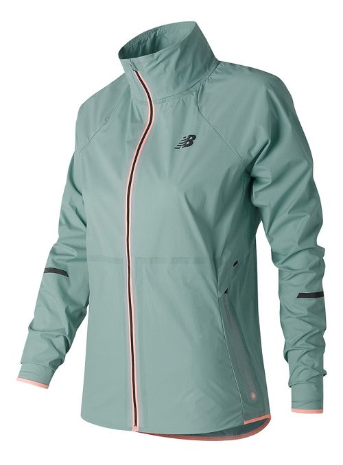 Womens New Balance Precision Run Running Jackets - Storm Blue S