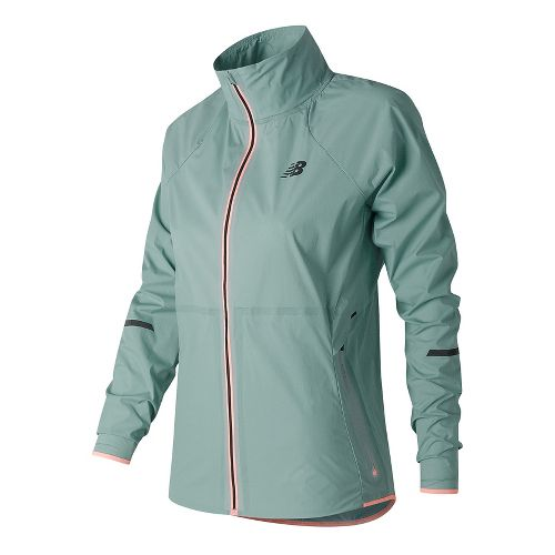 Womens New Balance Precision Run Running Jackets - Storm Blue M