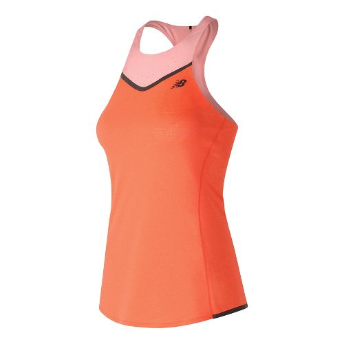 Womens New Balance Precision Run Sleeveless & Tank Technical Tops - Alpha Orange Heather S ...
